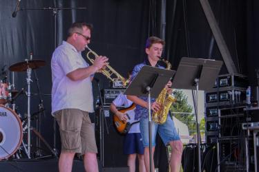 Les musiciens du CRC ont eux aussi participé avec brio au spectacle...