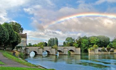 Limay Vieux Pont arc en ciel