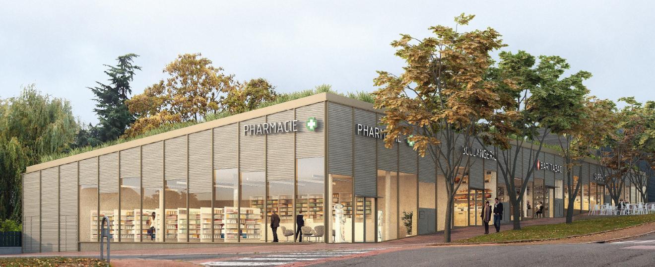 Perspectives et projet de réaménagement du centre commercial de la Source