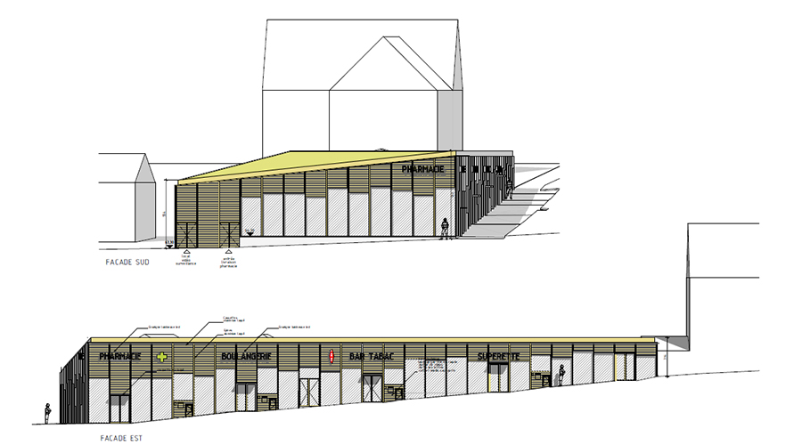 Perspective du projet de réaménagement du quartier de la Source