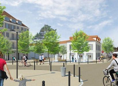 Projet de rénovation de la Place du Temple, en centre-ville (image non contractuelle)
