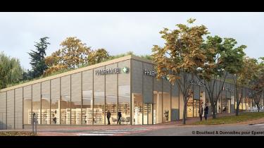 Chantier nouveau centre commercial de La Source