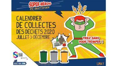 Calendrier de collectes des déchets de juillet à décembre 2020